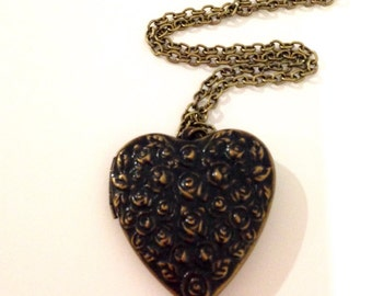 Valentines day Locket necklace heart necklace heart locket necklace long pendant casual necklace -Love heart locket necklace