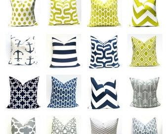 15% Off Sale Decorative Pillow  Pillow Covers Blue Pillow Navy Pillow , Green Pillow - Gray Pillow - Throw Pillow covers - Boys Room Decor -