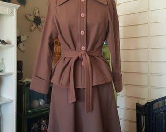 Vintage Wool Separates Skirt Suit Set by Fortuna