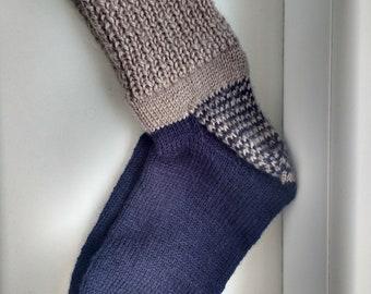 Knitted socks, handmade socks