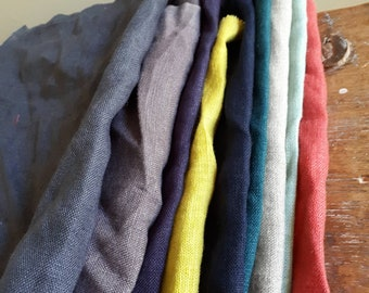 LINEN BUNDLE / linen scraps / remnants / linen fabric / runningthreads