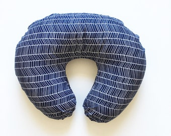 Nursing Pillow Cover Navy Herringbone. Nursing Pillow. Nursing Pillow Cover. Minky Nursing Pillow Cover. Navy Nursing Pillow Cover.
