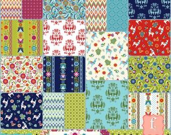 Juxta Posey 5 Inch Charm Pack Bundle Stacker - 42 Piece COMPLETE - Betz White - Riley Blake Fabrics