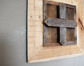 Reclaimed wooden cross- pallet wood