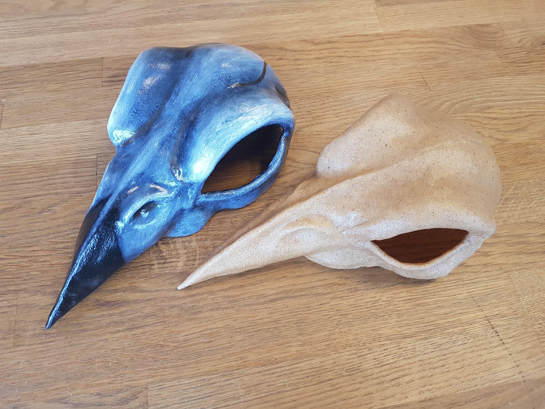 League Of Legends Cosplay Prop Handmade Bird Skull For Xayah # Muebles Liga Trace