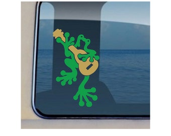 Frog Ukulele Decal Hawaiian Music Sticker  -449