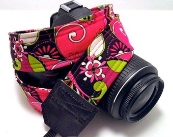 DSLR Camera Strap, Padded Camera strap, Floral, Nikon Camera Strap, Canon Camera Strap, Graduation Gift, Wedding Gift, Travel