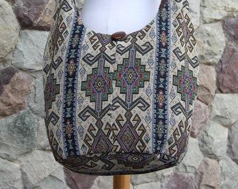 Unique Aztec Mayan Hippie Crossbody Bag   Shoulder bag   Woven Hobo Bag   Cute Vegan bag   Sling Bag   Boho Crossbody Bag  Crossbody Purse