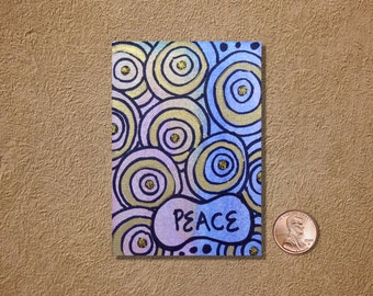 Peace ACEO Original Watercolor Painting