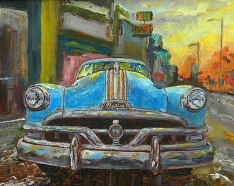 Pontiac Chieftain - high quality print of my original oil painting