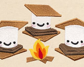 S'more S'mores Embroidered Flour Sack Hand/Dish Towel