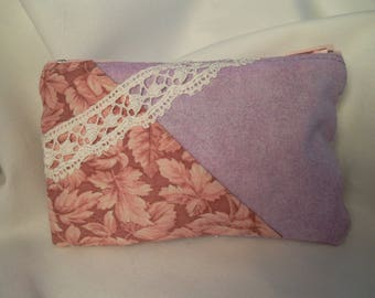 Wallet purple and pink fabric