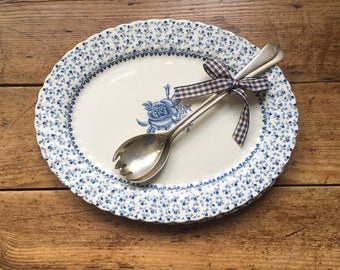 Blue & White Oval Platter, Serving Dish, Serving Platter, Ironstone Platter, Royal Victoria, Kitchen Decor, Vintage Home Decor