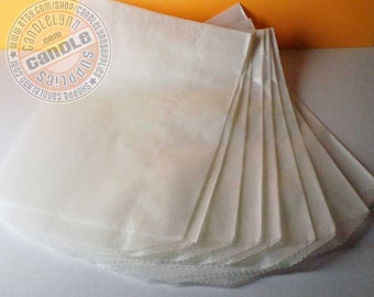 100 Translucent Flat Glassine Bags - 4 3/4 x 6 5/8 -  Baked Goods, Gifts, Etc