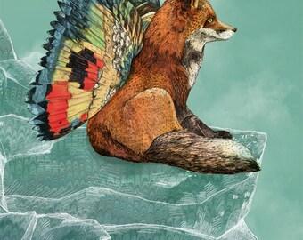 Flying Fox // A5 print