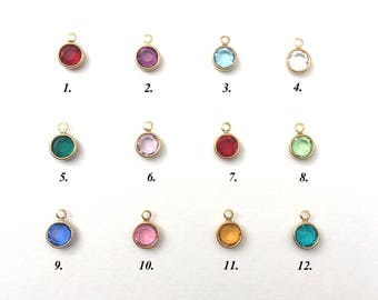 Swarovski Extra Birthstone charm to add on to Necklace or Bracelet already purchased in my store, Add ons