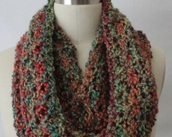 Extra große Schal, Schlauchschal, Loop in Herbstfarben