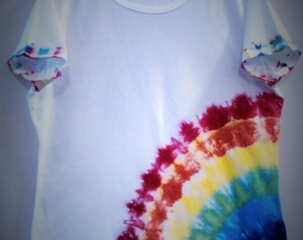 Tie-Dye, Rainbow Burst, Ladies' Fit XL