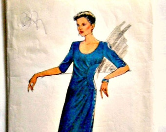 Misses Shaped Bodice Dress Vintage Sewing Pattern Style 2969 Size 12