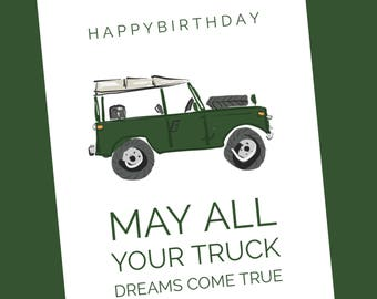 HAPPY BIRTHDAY - Truck