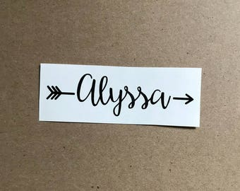 Arrow Name Decal | Monogram Decal | Arrow Decal | Monogram Sticker | Car Decal | Laptop Decal | Monogram Gift | Personalized Decal