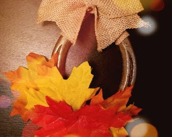 Autumn Rustic Good Luck Horseshoe