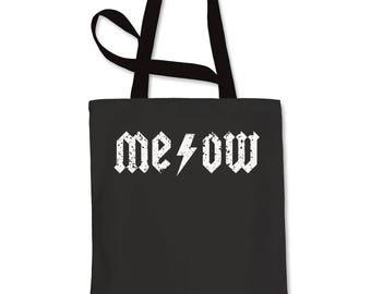 Meow Lightning Bolt Shopping Tote Bag