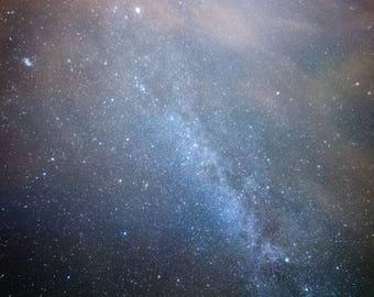 "night sky, stars, milky way, nature, astronomy, photography, universe, fine art: 16x24, 11x16, 8x12 or 5x7 photograph, ""Heavenly"""