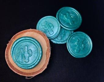 Cactus Wax Envelope Seals - pack of 5