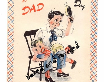 Vintage Buzza Father's Day Card Spank