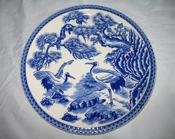 Vintage Blue and White Good Luck Collectible Plate