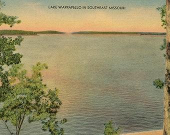 Lake Wappapello Southeast Missouri near Poplar Bluff Vintage Postcard (unused)