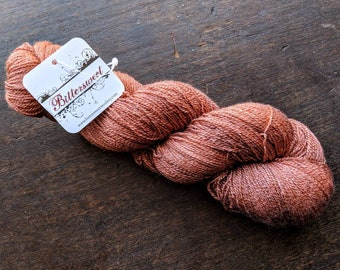 Bittersweet Yarn, Afterglow Lace Yarn - Copper Penny