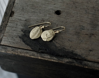 Keepsake Fern & Vine Vermeil or Silver earrings