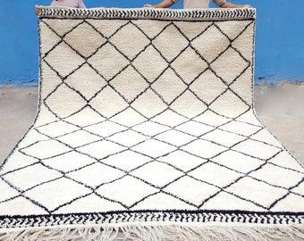 Moroccan rug Beni Ourain rug handmade 100% wool rug 10 x 6.5 feet