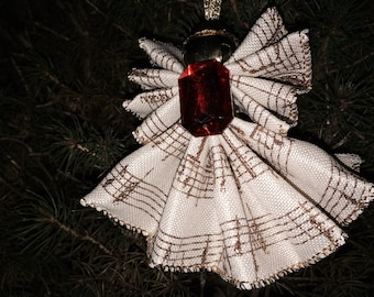 Ribbon Angel Ornament - Christmas, Confirmation, Baptism Gift