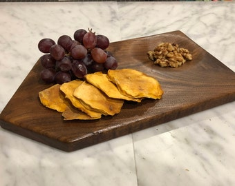 Walnut Cheese Board with Food Dimple