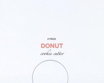 ORIGINAL 2 piece Donut/Circle Cookie Cutter, Custom Cookie Cutters, Cookies, Dessert, Breakfast, Party, Donuts, Doughnut, Circles