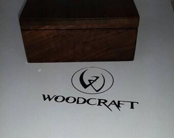 Solid walnut stash box