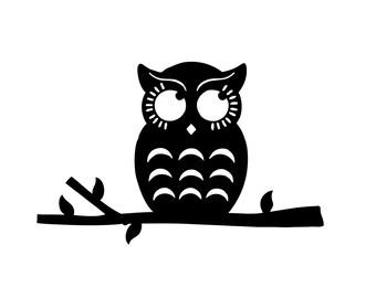 Owl Decal Sticker -  Yeti Cup, Nursery Wall, Shadow Box, Car, Boat, Truck Vinyl Decals