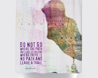 Shower Curtain and More - Jamaican Mermaid Emerson Quote | See Dropdown for Pricing and Matching Decor Options