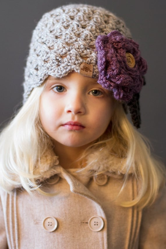 Crochet Pattern Scalloped Chloe Cloche Girls Crochet Hat Pattern