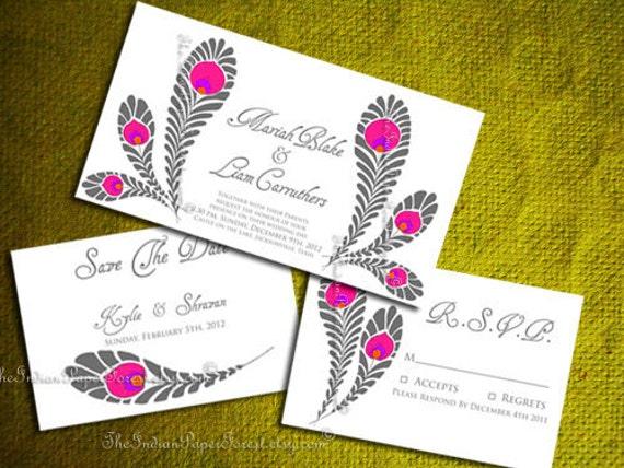 Peacock Wedding Invitations Template: Items Similar To Diy PRINTABLE ROYAL PEACOCK Wedding
