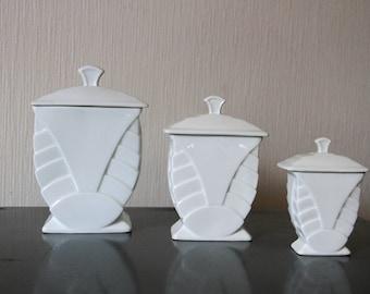 Set of Art Deco jars