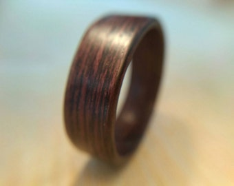 DARK BENTWOOD RING / Bentwood ring / Wooden ring / Wood ring /Wood band /Wooden band / Bentwood band  / Wenge bentwood ring / Dark wood ring