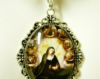 Our Lady of the Seven Sorrows pendant and chain - AP09-292