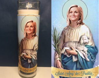 Amy Poehler Devotional Prayer Saint Candle