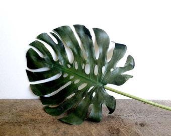 Tropical, Monstera plant, Tropical leaf, jungalow, monstera deliciosa, greenery, Faux plant, Tropical plant, Beach decor, Artificial plant