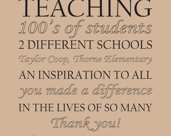 Teacher Retirement Poster