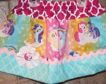 Girls skirt, Twirl Skirt, Infant skirt, toddler skirt, Custom..Pony Rainbow..sizes newborn  to 10 girls